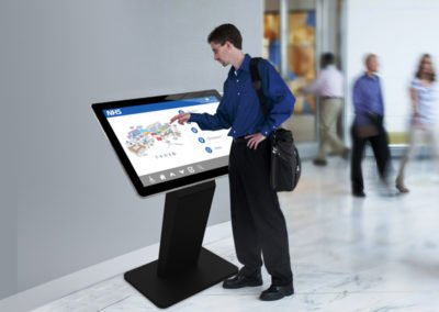 PCAP Touch Screen Kiosks With Dual OS